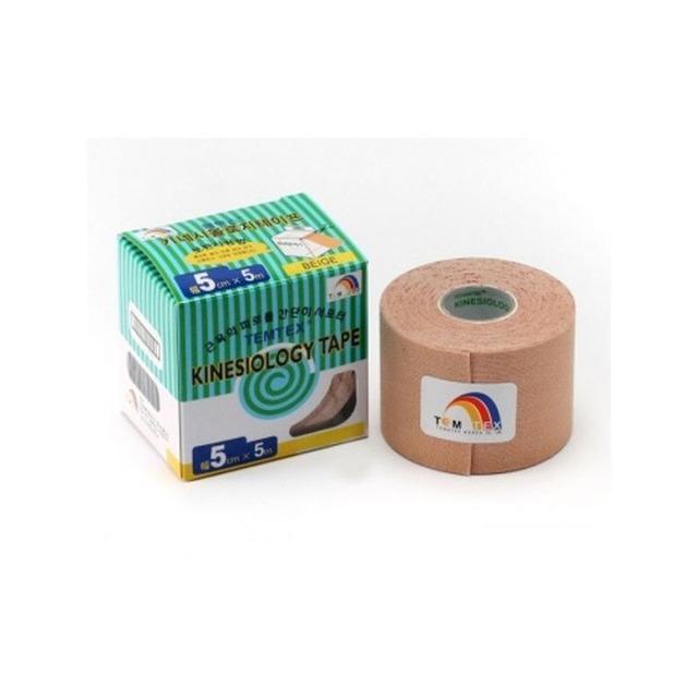Kinesiology tape - 5cm x 5m Beige 6uds