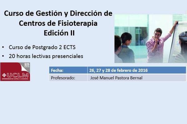 Curso de Gestión y Dirección de Centros de Fisioterapia