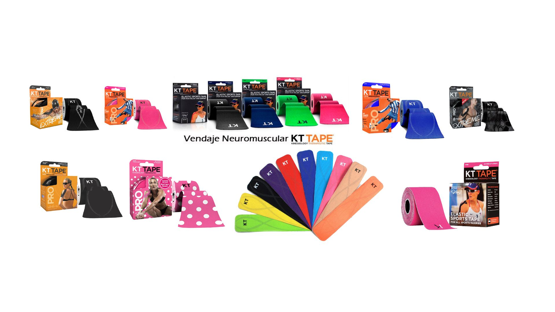 vendajes kt tape tienda online de productos para fisioterapeutas