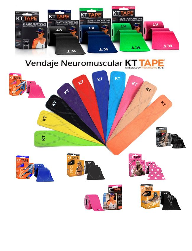 vendajes neuromusculares kt tape
